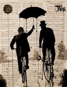 "Saatchi Online Artist: Loui Jover; Pen and Ink, 2013, Drawing ""the umbrella"""