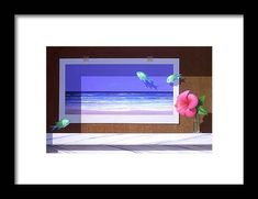 Framed Postcards, Hanging Wire, Clear Acrylic, Illusions, Original Paintings, Framed Prints, Birds, Beach, Artwork
