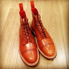 Handmade men's boots from England. #Gorgeous #Brogue