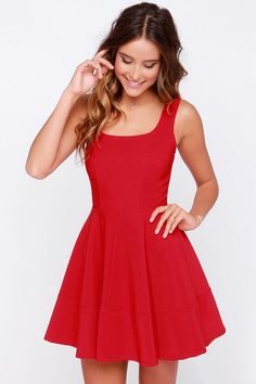 Wondering where to buy homecoming dresses that look amazing and don't break the bank? Score cute homecoming dresses with Lulus! Cute Red Dresses, Day Dresses, Beautiful Dresses, Dress Outfits, Short Dresses, Prom Dresses, Formal Dresses, Red Dress Casual, Simple Dresses