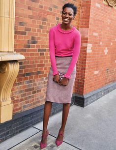 The Best Professional Work Outfit Ideas Pencil Skirt Outfits, Tweed Pencil Skirt, Mein Style, Dinner Outfits, Professional Attire, Classy Casual, Knit Skirt, Work Attire, Outfit Work