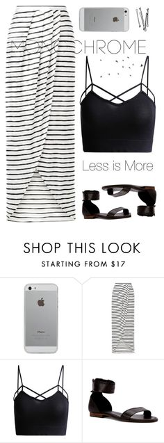 """Less really is more"" by painterella ❤ liked on Polyvore featuring Luvvitt, New Look, Frye, BOBBY and monochrome"