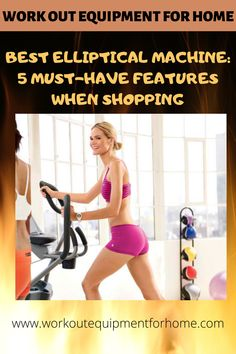 With all of the different elliptical brands out there, how do you choose the best one? Here are 5 key features to look for when shopping to help you find the very best elliptical machine. Hiit Elliptical, Home Workout Equipment, Workout Gear, Cardio Machines, Rowing Machines, Cross Trainer, Workout For Beginners, At Home Workouts