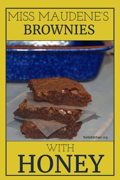 Miss Maudene's Brownies with Honey Icing . Recipe for homemade brownies with honey icing just like on The Chew TV Show. These are the best brownies! Easy Chocolate Desserts, Brownie Desserts, Vegetarian Chocolate, Homemade Brownies, Best Brownies, The Chew Tv Show, Cookie Brownie Bars, Kitchen Recipes, Dessert Recipes