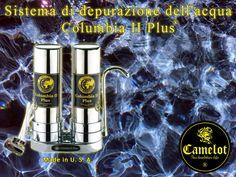 Sistema di depurazione dell'acqua Columbia II Plus. Filtri a carbone attivo e ceramica. Whiskey Bottle, Columbia, Drinks, Filter, Drinking, Beverages, Drink, Colombia, Beverage