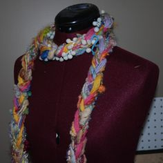 I made some of these with all my scrap yarn and they turned out great! I know it is technically not crocheted :-)