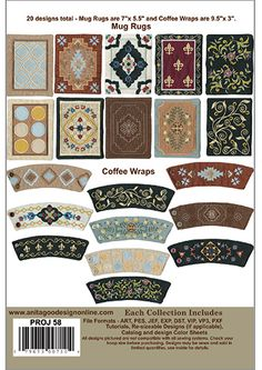 Anita Goodesign | Mug Rugs And Coffee Wraps - Anita Goodesign