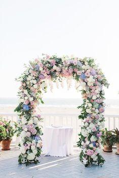 30 Floral Wedding Arch Decoration Ideas ❤ wedding arch decoration ideas tender floral arch Valorie Darling Photography #weddingforward #wedding #bride