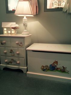 Bed side table and toy chest