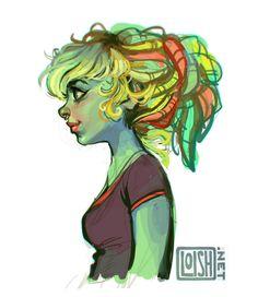 La ilustración coqueta de Loish   OLDSKULL.NET
