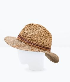 Image 4 of RAFFIA WIDE BRIM HAT from Zara