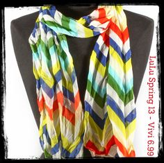 Multi colored  chevron scarf...ADORE this for Spring!!!