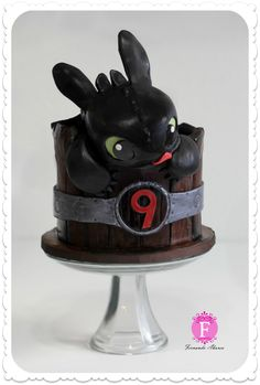 "We had the honor of being a part of Keaton's day at DreamWorks Animation. We celebrated his ""9th"" birthday with a super cute baby Toothless cake! Keaton and his family were amazi…"