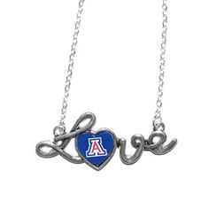 "Arizona Wildcats 16"" Chain Necklace with Pendant with ""Love"" in Script & Arizona Logo in the Heart Sports Team Accessories http://www.amazon.com/dp/B01BFN3HWI/ref=cm_sw_r_pi_dp_Cq10wb0RW1T2T"