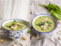 Zupa z groszku i szczawiu