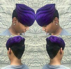 Dope cut and color Dope Hairstyles, Black Girls Hairstyles, Pretty Hairstyles, American Hairstyles, Hairstyles 2018, Latest Hairstyles, Short Hair Cuts, Short Hair Styles, Short Pixie