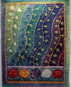 A Polar Bear's Tale: ryijy by the textile artist Sirkka Könönen Penny Rugs, Textile Fiber Art, Textile Artists, Tapestry Weaving, Loom Weaving, Rya Rug, Rug Hooking Patterns, Knitting Patterns, Rug Inspiration