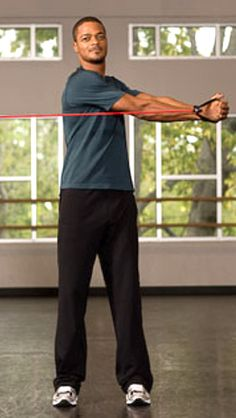 These three must-do resistance band exercises strengthen upper and lower body muscles and improve balance and flexibility.
