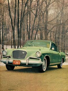 Green Hawk    1956 Studebaker Hawk.