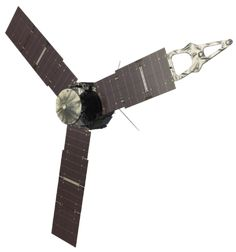 The Juno spacecraft will reach Jupiter on July 2016 Jupiter Planeta, Jupiter Composition, Thermoelectric Generator, Nasa Juno, Continents And Oceans, Used Solar Panels, Interstellar, Clouds, Space Probe