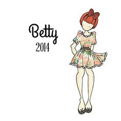 Meet BETTY...New to the 2014 Prima Doll Stamp Collection. Place your Pre-Order here... https://www.etsy.com/shop/CrazyCraftyCreators