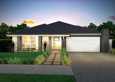 Want a new home where all the hard work has been done for you? Buy an Australian house and land package by McDonald Jones Homes, including luxury inclusions. Facade House, House Facades, Mcdonald Jones Homes, Australian Homes, House Extensions, Front Yards, Grand Entrance, Model Homes, Exterior Colors
