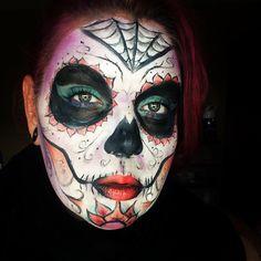 Sugar skull makeup. Find me on IG-Kim Whitesel