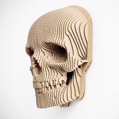 Jack Skull cardboard mask Puzzle DIY Kit Paper recycled - Swetlana Home Cardboard Mask, Cardboard Sculpture, Armadura Cosplay, Gravure Laser, 3d Modelle, Wall Clock Design, Folded Book Art, Skull Mask, Paper Artwork