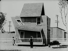 In ONE WEEK (1920), Buster Keaton accidentally re-composed a house, creating an exaggerated version of an architecture that could accommodate diverse spatial uses in close proximity.