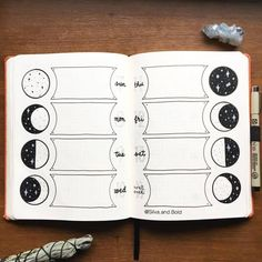25 Stellar Moon Phase Spreads for your bullet journal Bullet Journal Ideas, Bullet Journal Tracking, Bullet Journal Notebook, Bullet Journal Aesthetic, Bullet Journal Spread, Bullet Journal Layout, Bullet Journal Inspiration, Bullet Journals, Bujo