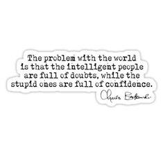 """Bukowski - problem with the world "" Stickers by Kokosnik | Redbubble"