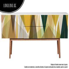 vinilos para muebles patron colores geometricos