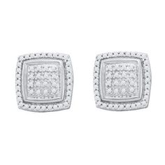 1/4CTW-Diamond MICRO-PAVE EARRINGS