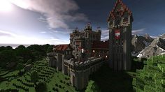 Hillside Castle Minecraft Project