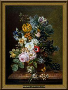 Eelke Jelles Eelkema - Stilleven met bloemen (1815-1839) [52,5cmx71,5cm - Rijksmuseum Amsterdam]