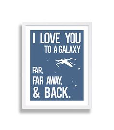 Star Wars Nursery Art Blue Nursery Decor The Force by CocoAndJames. $10.00 for 5x7, up to 16x20 for $38.