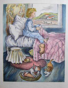 Vintage 1946 Childrens Book Illustration by Masha - Farm Story - Elsa Nast - searching for it