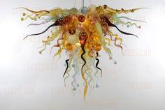 Wholesale Beautiful Fashion hand blown glass chandelier