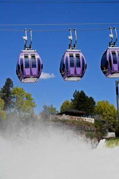 Riverfront Park Gondolas, Spokane Falls, Spokane WA, Print ID #D042706Falls01V