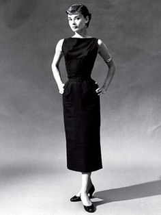 The iconic classic item that should be in every woman's closet...The little black dress. The original LBD seen here on #Audrey #Hepburn. Designed by Hubert de #Givenchy