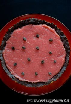 tarte with water mellon jelly