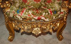 rococo decor/images   Antique Pair of French Gilt Rococo Style Armchairs