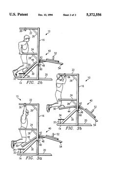Patente US5372556 - Pull-up and dip exercise device