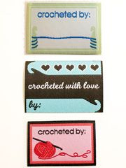 Crochet Garment Labels  Brand your crafts and handiwork with personalized labels