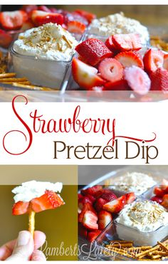 Strawberry Pretzel Dip