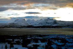 Bodø, Norway   #norway #bodø #mørkved #mountains #snow #sunset #nature #landscape #northernnorway #norge #mørkvedbukta #fjord #elenamzuma Bodo, Arctic Circle, Land Scape, Norway, Mount Everest, Urban, Mountains, Sunset, Nature