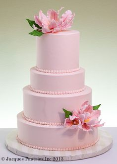 Peach Elegance Cake by Jacques Fine European Pastries Floral Wedding Cakes, Elegant Wedding Cakes, Wedding Cupcakes, Elegant Cakes, Pretty Cakes, Beautiful Cakes, Amazing Cakes, Simply Beautiful, Cake Pops