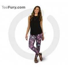 """The Lavender Town leggings are made of high quality polyester and spandex for the best style and comfort. Dress your legs in these otherworldly statement leggings. About These Leggings:- Made in the USA- Model is wearing size Medium- Height - 5'5"""" 