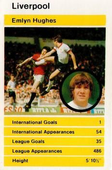 1980 Top Trumps British Stars Set 1 #NNO15 Emlyn Hughes Front
