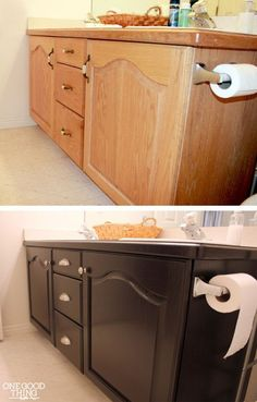 bathroom cabinet makeover